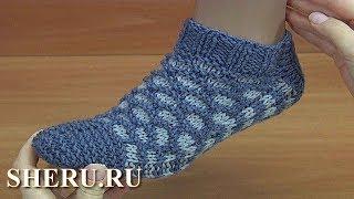 Носки без швов на двух спицах. Урок 209