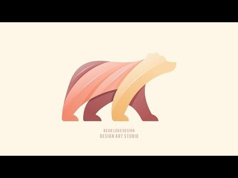 Bear Logo Design Adobe Illustrator Cc 2019