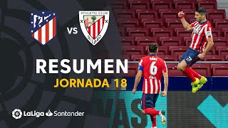 Resumen de Atlético de Madrid vs Athletic Club (2-1)