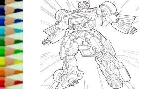 Tobot X Transformers CarBot - Belajar menggambar kartun robot transformer untuk anak - 또봇 toys