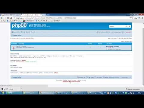 How to phpBB 3.1 installation Best Opensource Webboard Software on localhost