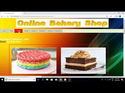 online bakery shop php project for final year student