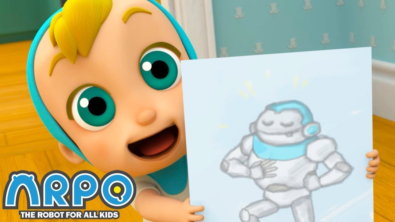 Arpo the Robot | ARPO ON LOW BATTERY! | Baby Videos | Funny Cartoons for Kids | Arpo and Daniel