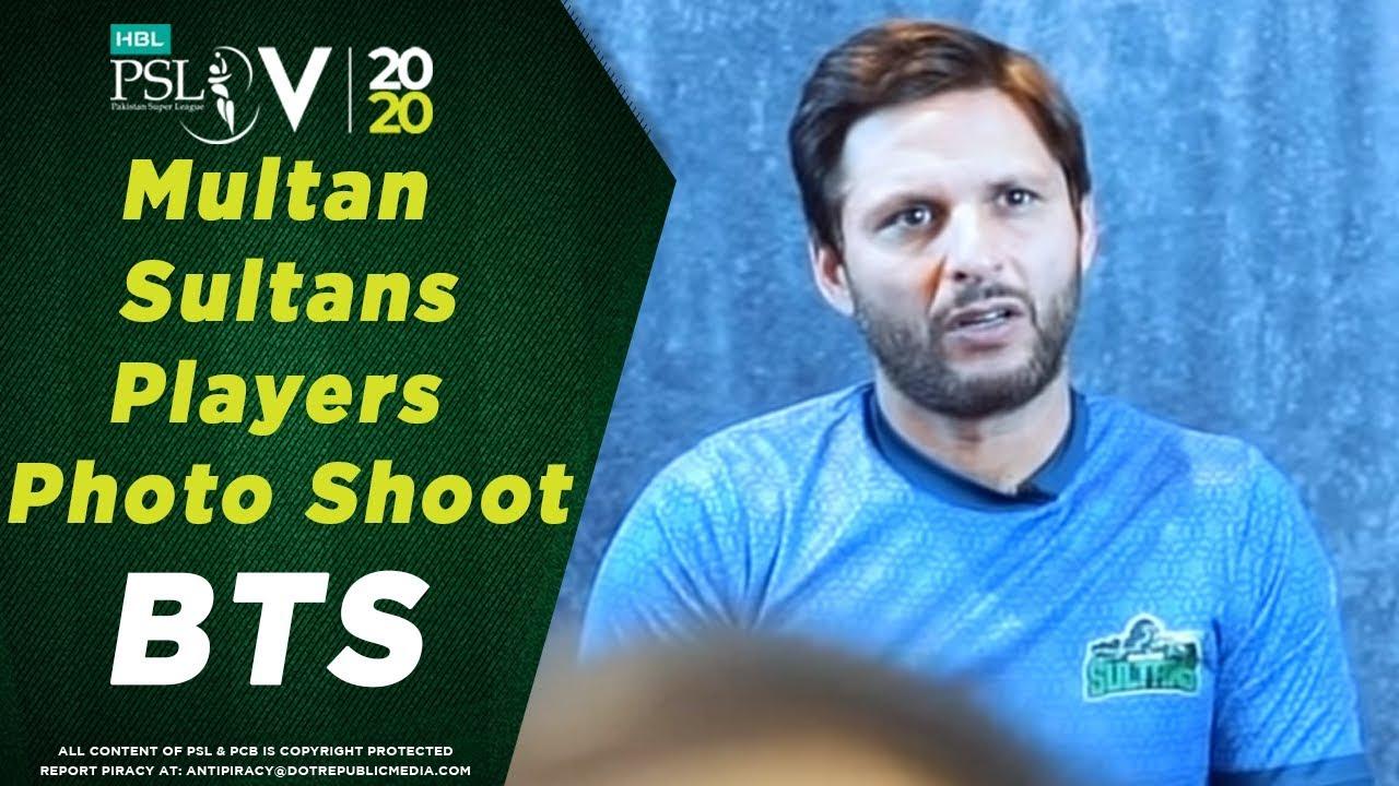 Multan Sultans players' photo-shoot | BTS | HBL Pakistan Super League