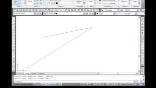 AutoCAD 2010.Урок 02.1. Построение отрезков