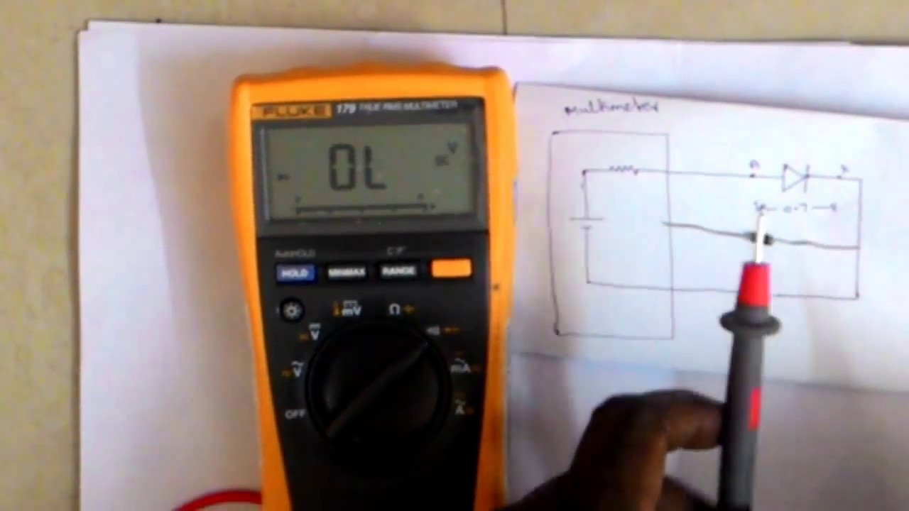 How To Test Diode With Multimeter Youtube Measurements Electronic Electrical Tutorials