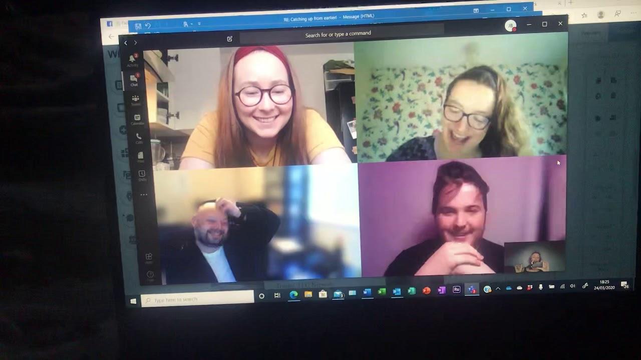 Late night strategy meeting! #covidvlog