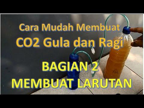 AQUASCAPE   CO2 DIY Gula dan Ragi Tutorial Detail - Bagian 2
