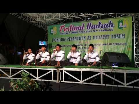 Arrobbany Indonesia Juara 1 Festival PP Al-hidayat Lasem Rembang 2017