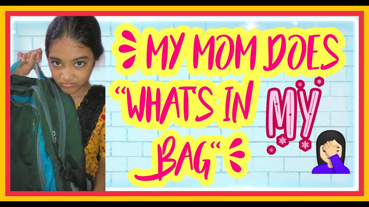 """My MOM does """" WHAT'S IN MY BAG """" / Funny Video / CUTE GIRL /"""