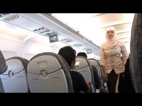 Praying in Royal Brunei Airlines