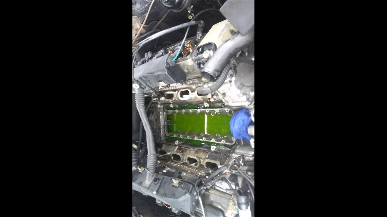 98 Bmw 740il Coolant Leak From Valley Pan Youtube