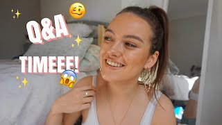 Q&A!!!!!! | how i met my boyf, post-degree plans + weight gain at uni | ames banks