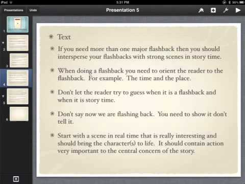 flashback paragraph example