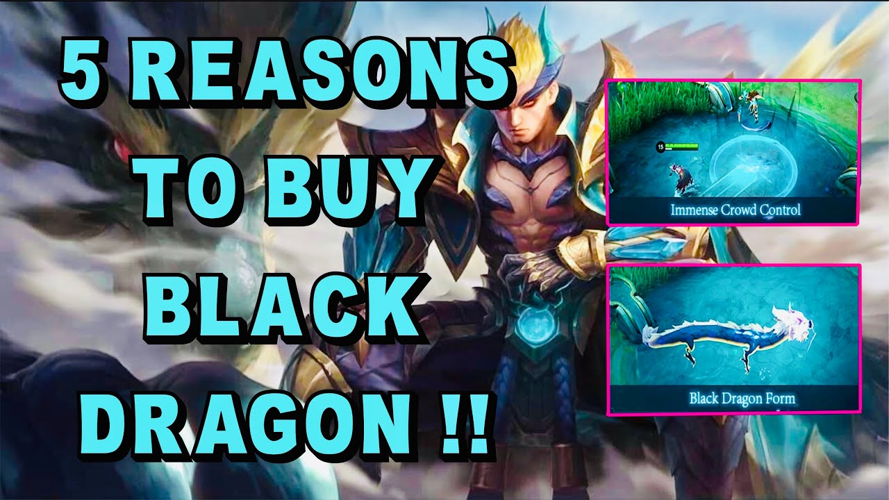 5 REASONS TO BUY THE NEW HERO YU ZHONG BLACK DRAGON | Skin Giveaway - Mobile Legends Bang Bang