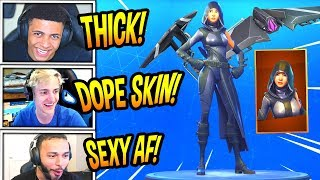 "STREAMERS REACT TO *NEW* ""FATE"" SKIN + SPLIT WING GLIDER! *LEGENDARY*  Fortnite FUNNY Moments"