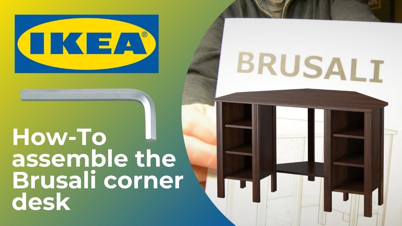 How To Assemble An Ikea Brusali Corner Desk Thompson Tutorial Youtube