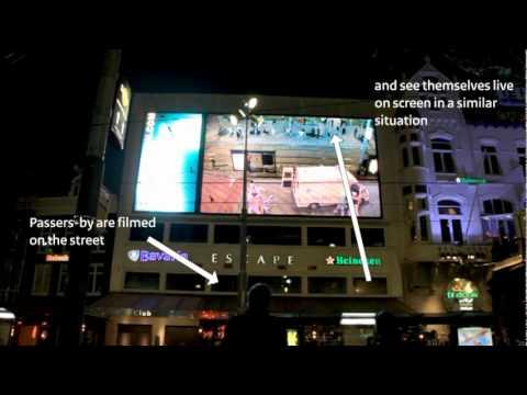 Live interactive mega-billboard in Amsterdam/Rotterdam