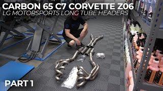 Carbon 65 C7 Corvette Z06: LG Motorsports Long Tube Headers - Part 1