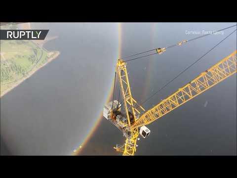 RT en Español: Captan arcoiris circular en San Petersburgo