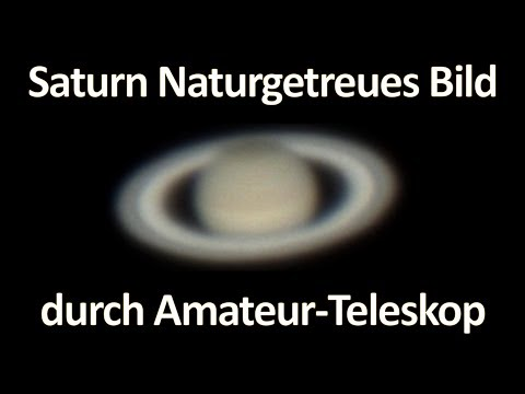 Saturn Naturgetreues Bild durch Amateur Teleskop [Deutsche Version]