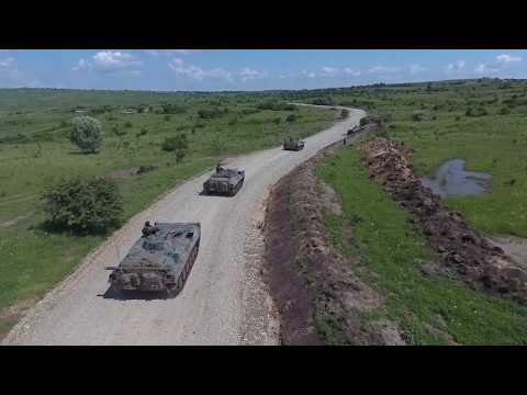 NOBLE JUMP 17 - Polish military fighting vehicles in Romania