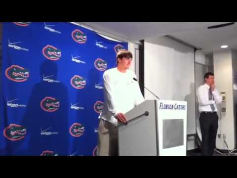 Florida QB John Brantley talks about the Gator offense