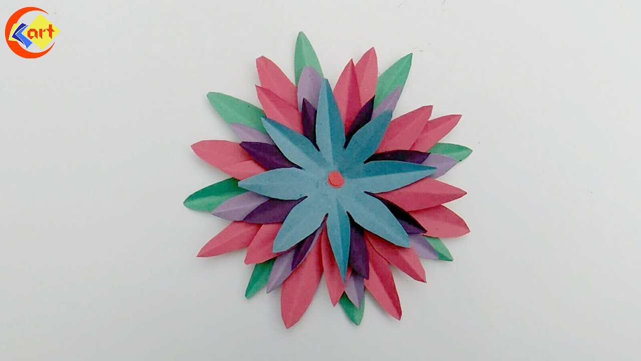 Diy How To Make Paper Flower Origami Tutorial Youtube