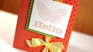 Hello (Inkadinkado Chalk Ink) - Make a Card Monday #117