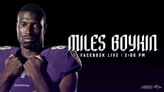 Facebook Live With Miles Boykin | Baltimore Ravens