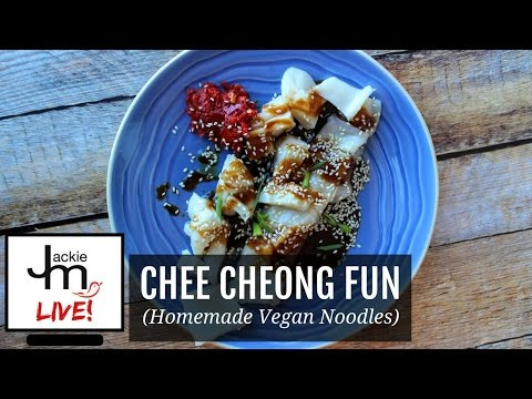LIVE Replay - How to Make Chee Cheong Fun (Homemade Vegan Noodles)