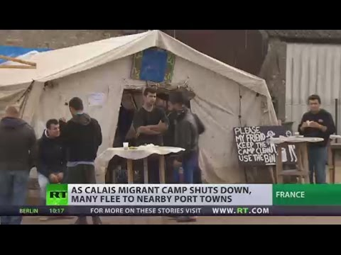 Migrants flee to nearby port towns after Calais camp shuts down