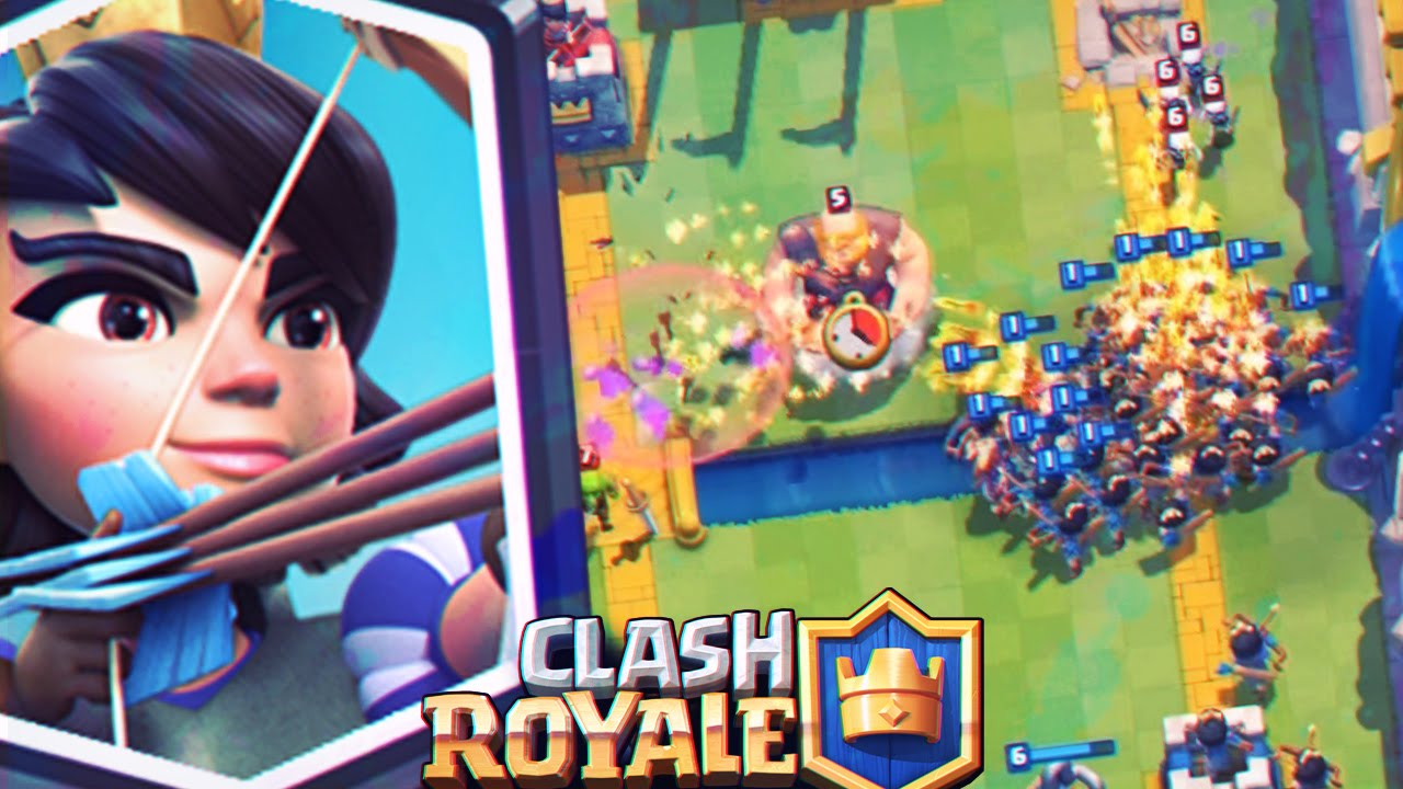 Clash Royale Reventando Con La Carta Legendaria La