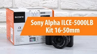 Rescue Sony Alpha ILCE-5000LB Kit 16-50mm / Unboxing Sony Alpha ILCE-5000LB Kit 16-50mm