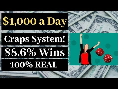$1,000 A Day Craps System?  Is It Real?  Craps Strategy Course