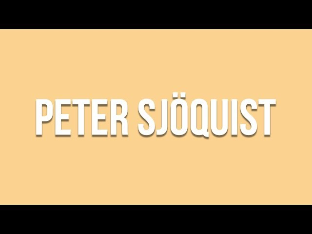Peter Sjoquist Showreel 2019