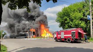 У Житомирі горить газова автомобільна заправка - Житомир.info