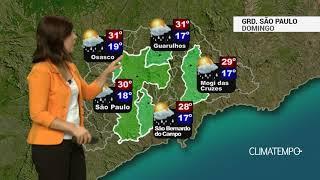 Previsão Grande SP – Ar abafado e pancadas de chuva