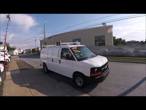 2008 White /Gray Chevrolet Express LS 3500 (1GNHG35K081) with an 6.0L V8 OHV 16V engine, 4-Speed Automatic transmission, located at 577 Chester Pike, Prospect Park, PA, 19076, (610) 237-1015, 39.886154, -75.302338 - Photo #0