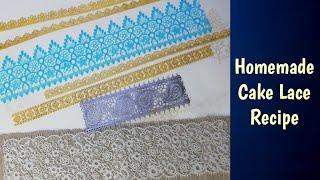 Easy Homemade Sugar Lace Recipe in Urdu/Hindi - Baking with Amna