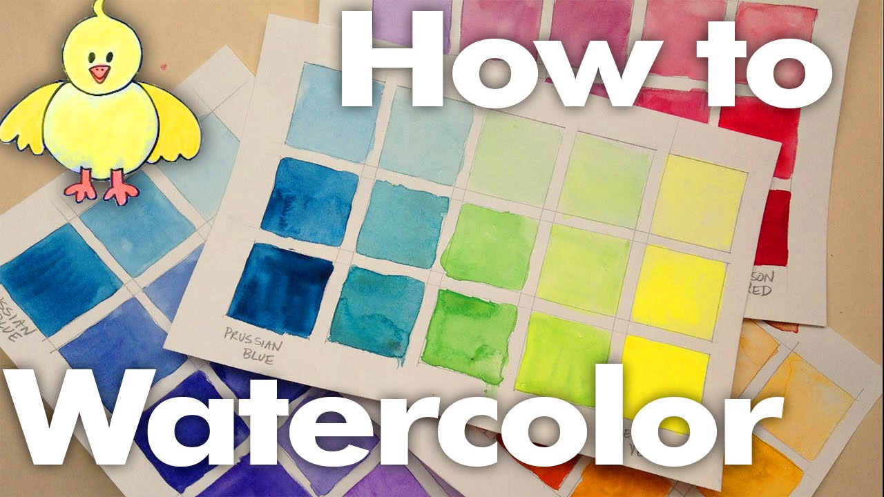 Watercolor WednesdayMaking Color Blending ChartsGetting