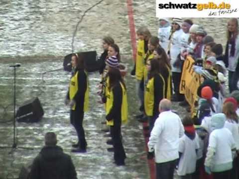 BVB - SCF Freiburg - Stimmung vor dem Spiel - Sonnenkinder Jingle Bells 19.12.2009 Westfalenstadion