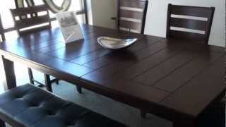 Crown Mark Bardstown Dining Room Set With Bench
