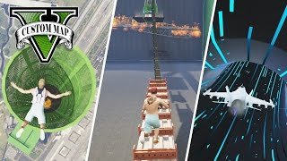 UNMÖGLICHER ZIEGEN TRIATHLON  (+DOWNLOAD) | GTA 5 ONLINE - CUSTOM MAP RENNEN | LPmitKev