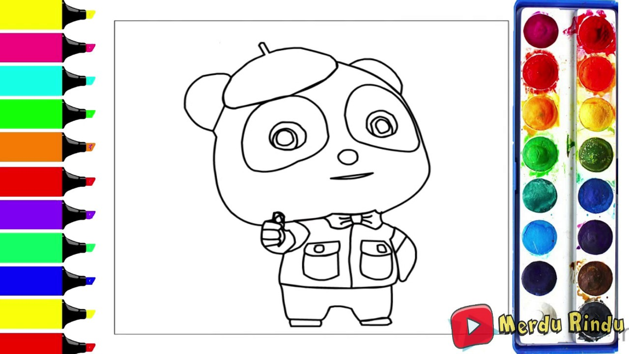 Drawing For Kids Coloring Baby Bus For Toddlers Youtube
