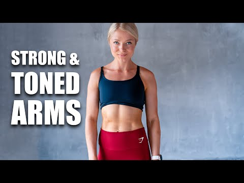 12 MIN STRONG TONED ARMS & ABS - Home Workout - no equipment
