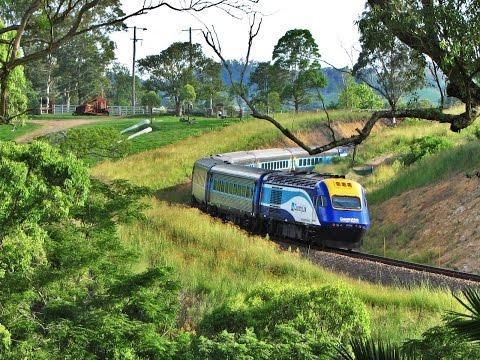 Sydney to Brisbane XPT service #NT31 near Dungog, Australia - Feb 2011
