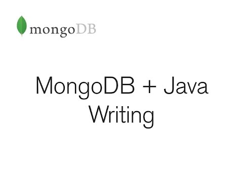 MongoDB + Java - Writing