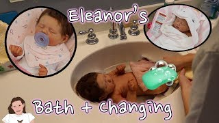 Silicone Baby Eleanor's First Bath & Changing! | Kelli Maple