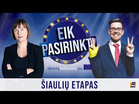 Eik Pasirinkti | Europos Parlamento kandidatų intelektualus žaidimas – debatai | Šiaulių etapas